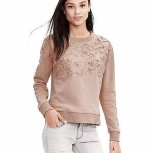 Banana Republic Applique Embroidered Sweater
